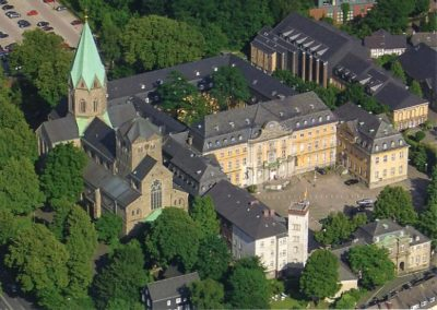 Luftbild Basilika St. Ludgerus und ehem. Abteigebäude
